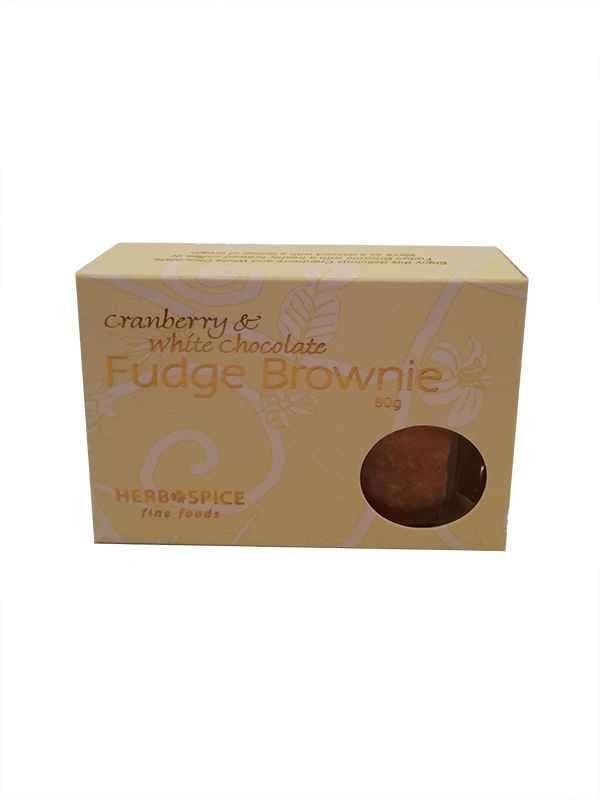 Tea Gift Box Delivery - Cranberry & White Chocolate Fudge Brownie