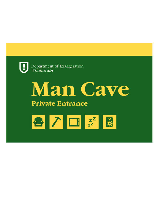 Men's Gift Box - A5 Man Cave wooden sign