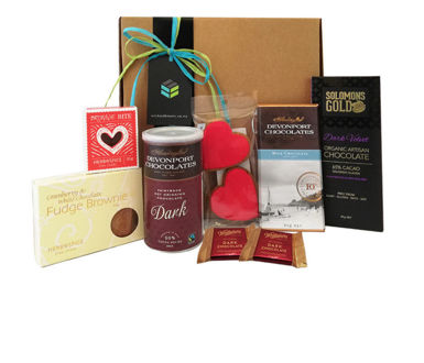 Valentines chocolate gift basket